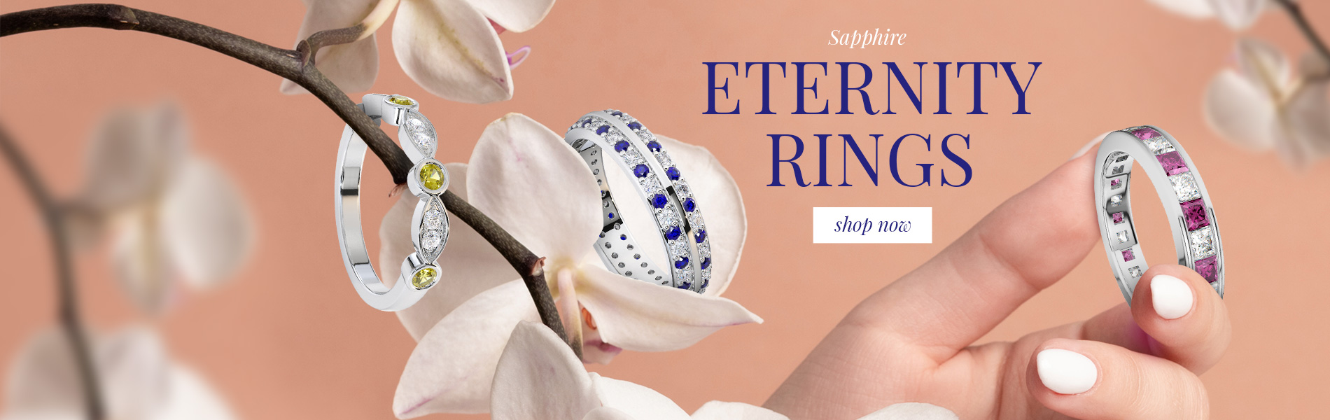 Sapphire Eternity Rings