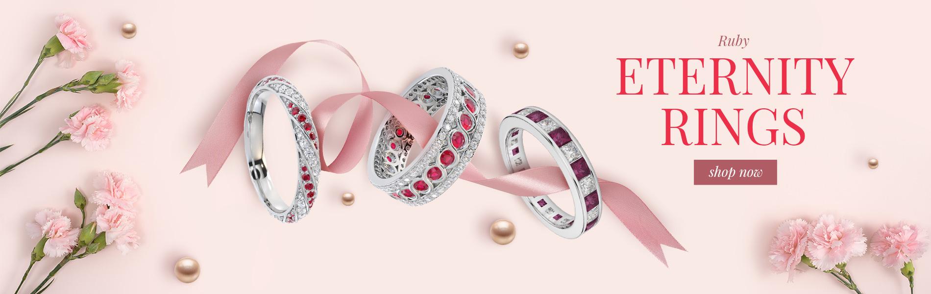 Ruby Eternity Rings