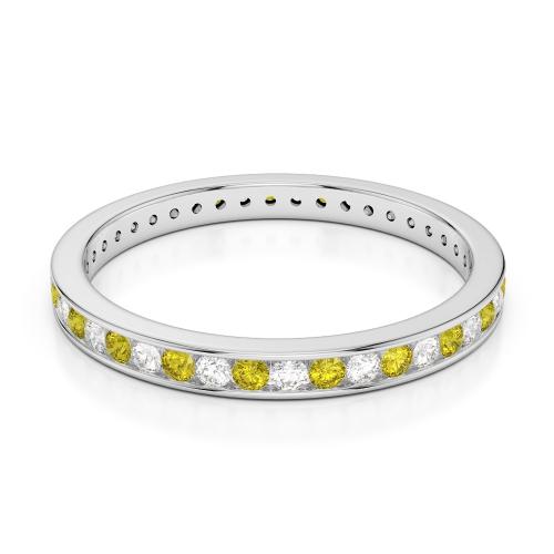 Yellow Sapphire Eternity Rings