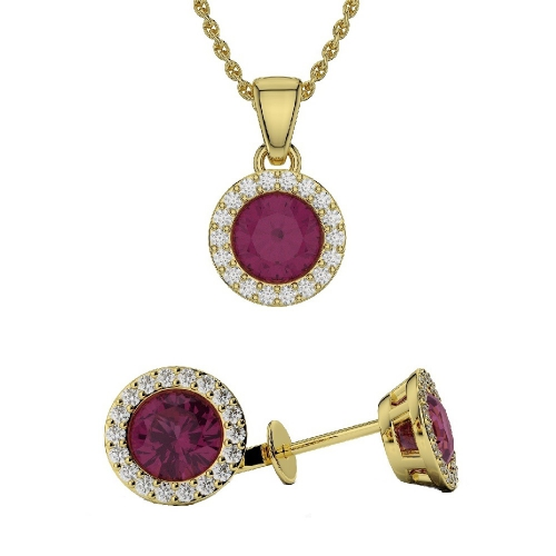 Ruby Pendant Sets