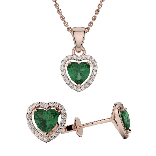 Emerald Pendant Sets
