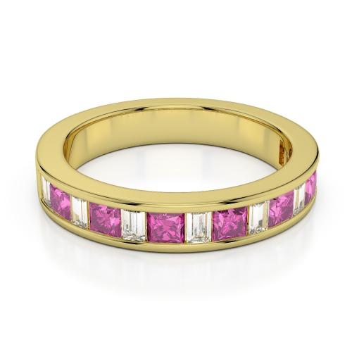 Pink Sapphire Eternity Rings