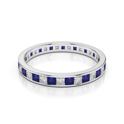 Blue Sapphire Eternity Rings