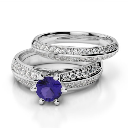 set tea t tanzanite signature silver jewelers rings wexford rose ring wedding