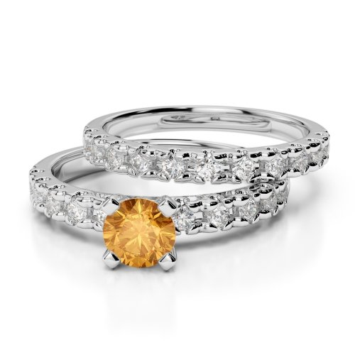 Citrine Bridal Set Rings