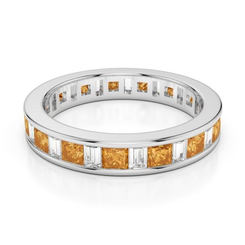 Citrine Eternity Rings