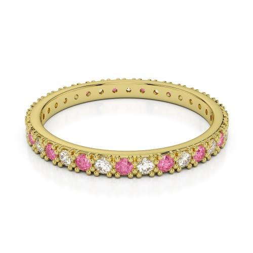 Pink Tourmaline Eternity Rings