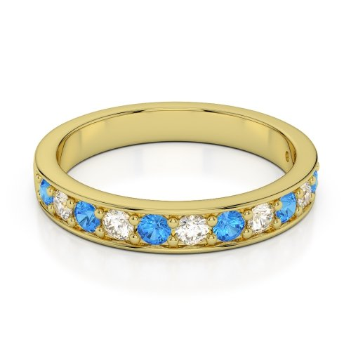 Blue Topaz Eternity Rings