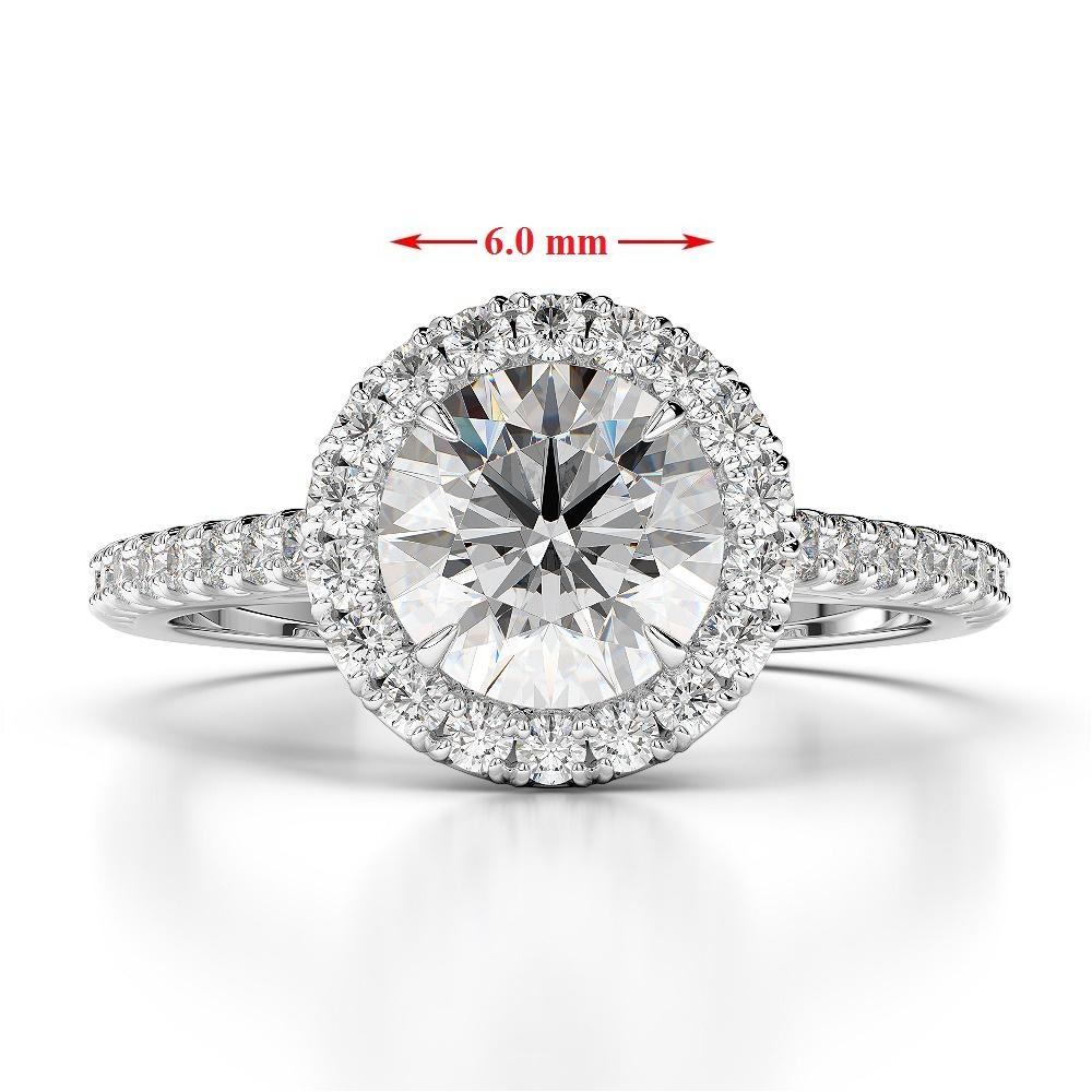 Engagement Rings Round Cut: Gold / Platinum Round Cut Black Diamond With Diamond
