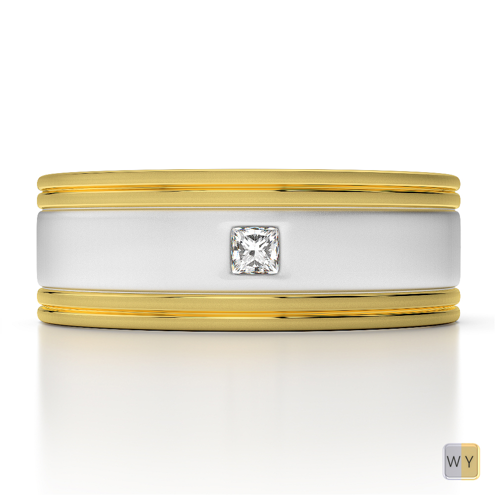 white yellow gold mens fusion diamond wedding ring agdr 1335. Black Bedroom Furniture Sets. Home Design Ideas