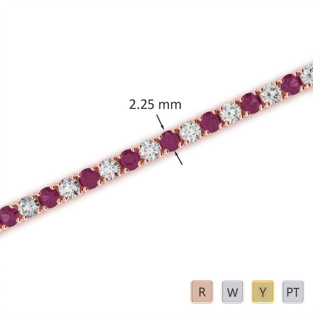 Gold / Platinum Diamond & Gemstone Bracelet AGBRL-1004