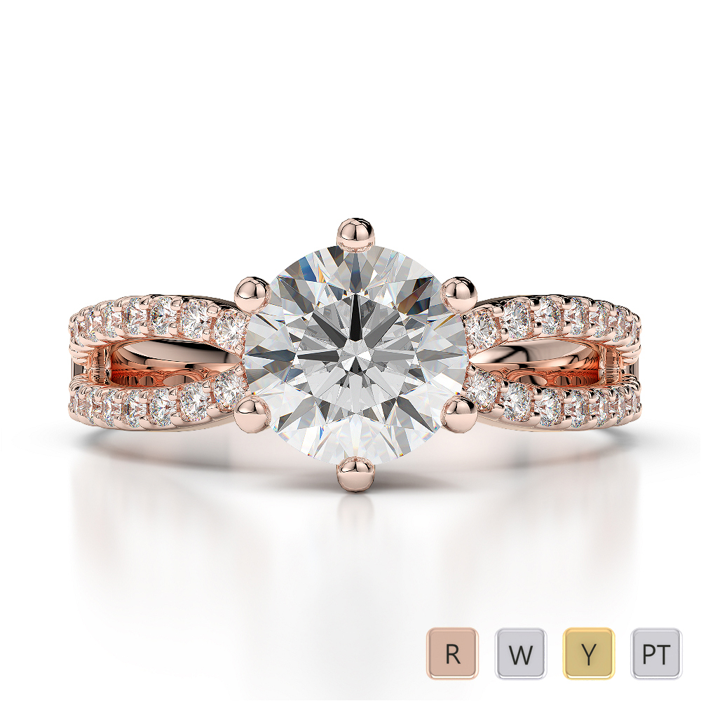 Gold / Platinum Diamond Engagement Ring AGDR-1223
