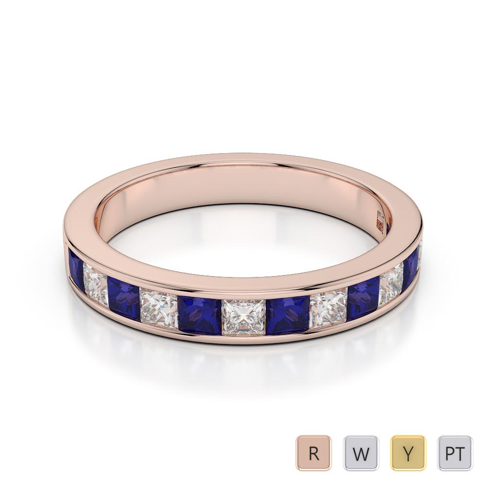 Gold / Platinum Diamond Half Eternity Ring AGDR-1136
