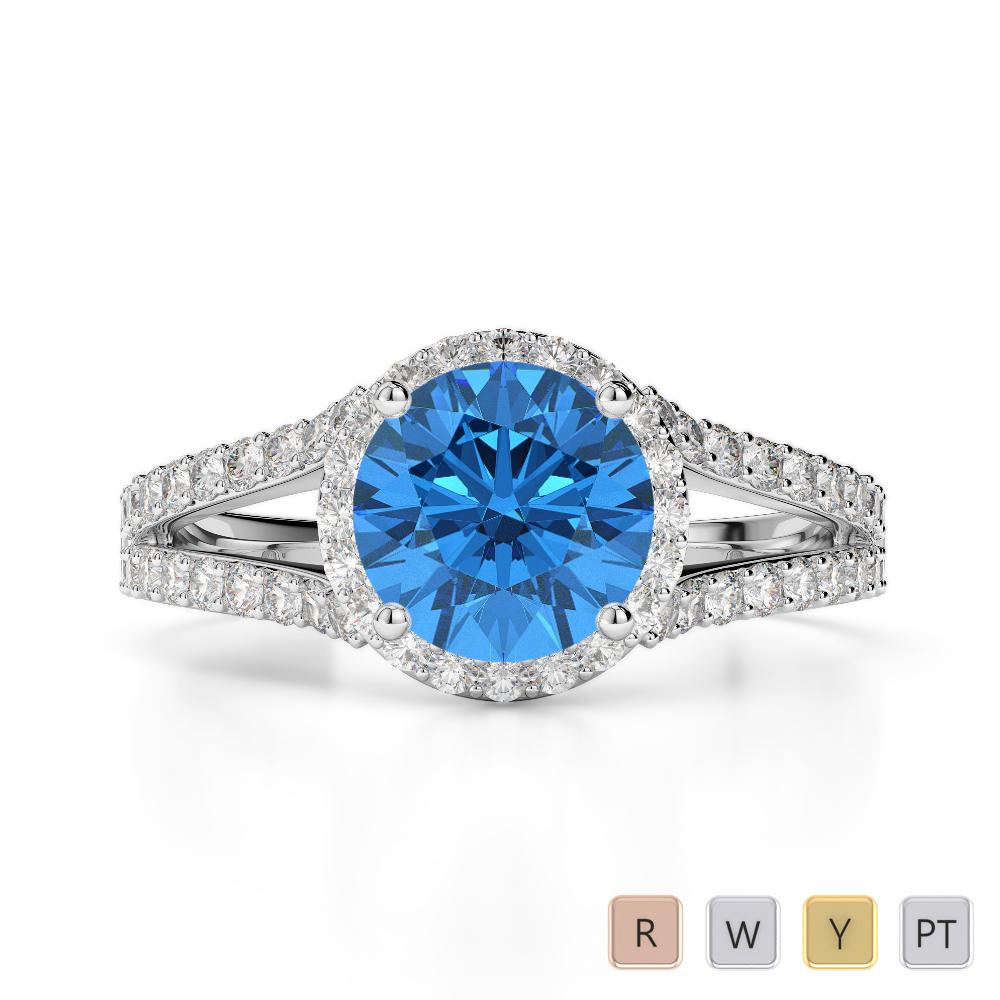 Gold / Platinum Diamond & Gemstone Engagement Ring AGDR-1220