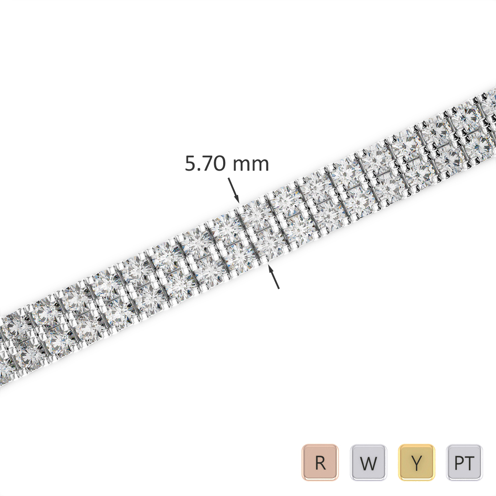 Gold / Platinum Diamond & Gemstone Bracelet AGBRL-1047