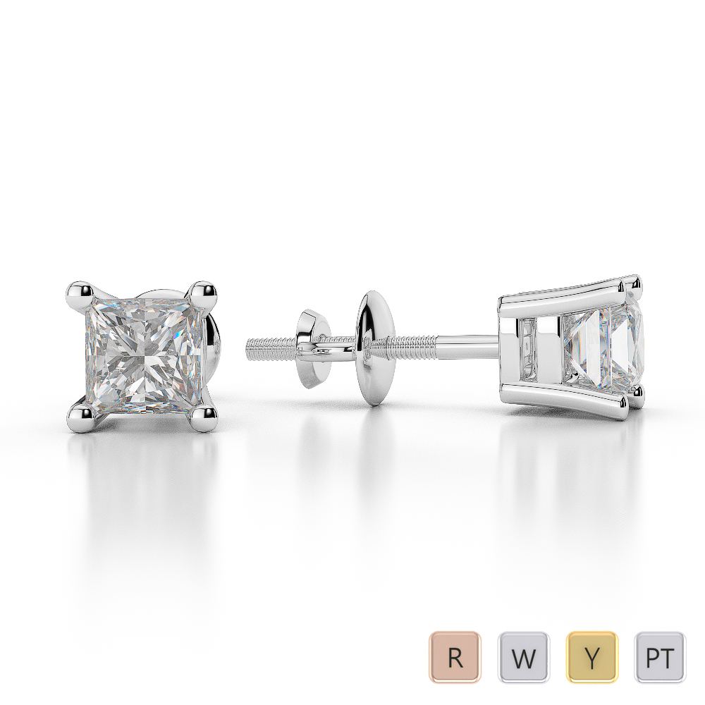 diamond gold stud s white tradesy hermes herm i earrings
