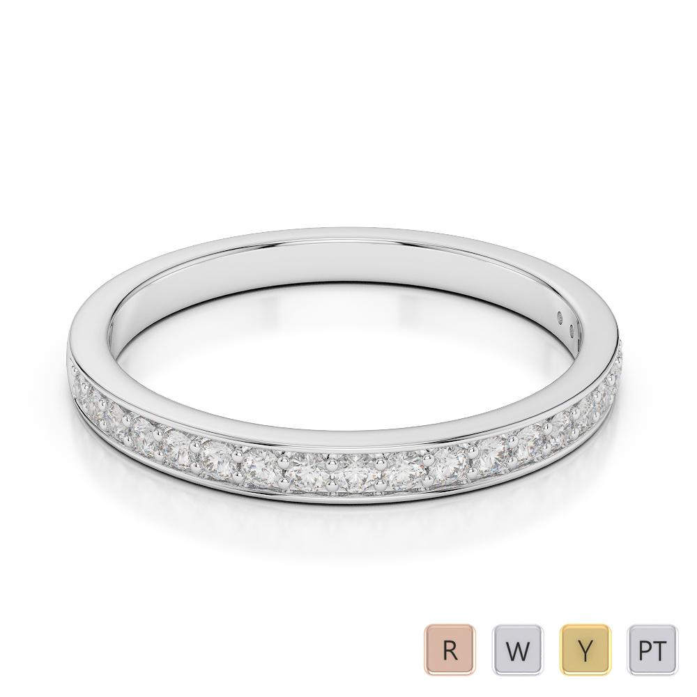 Gold / Platinum Diamond Half Eternity Ring AGDR-1082
