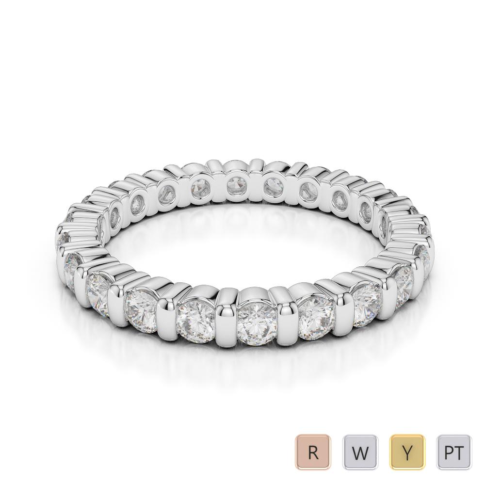 Gold / Platinum Diamond Full Eternity Ring AGDR-1093