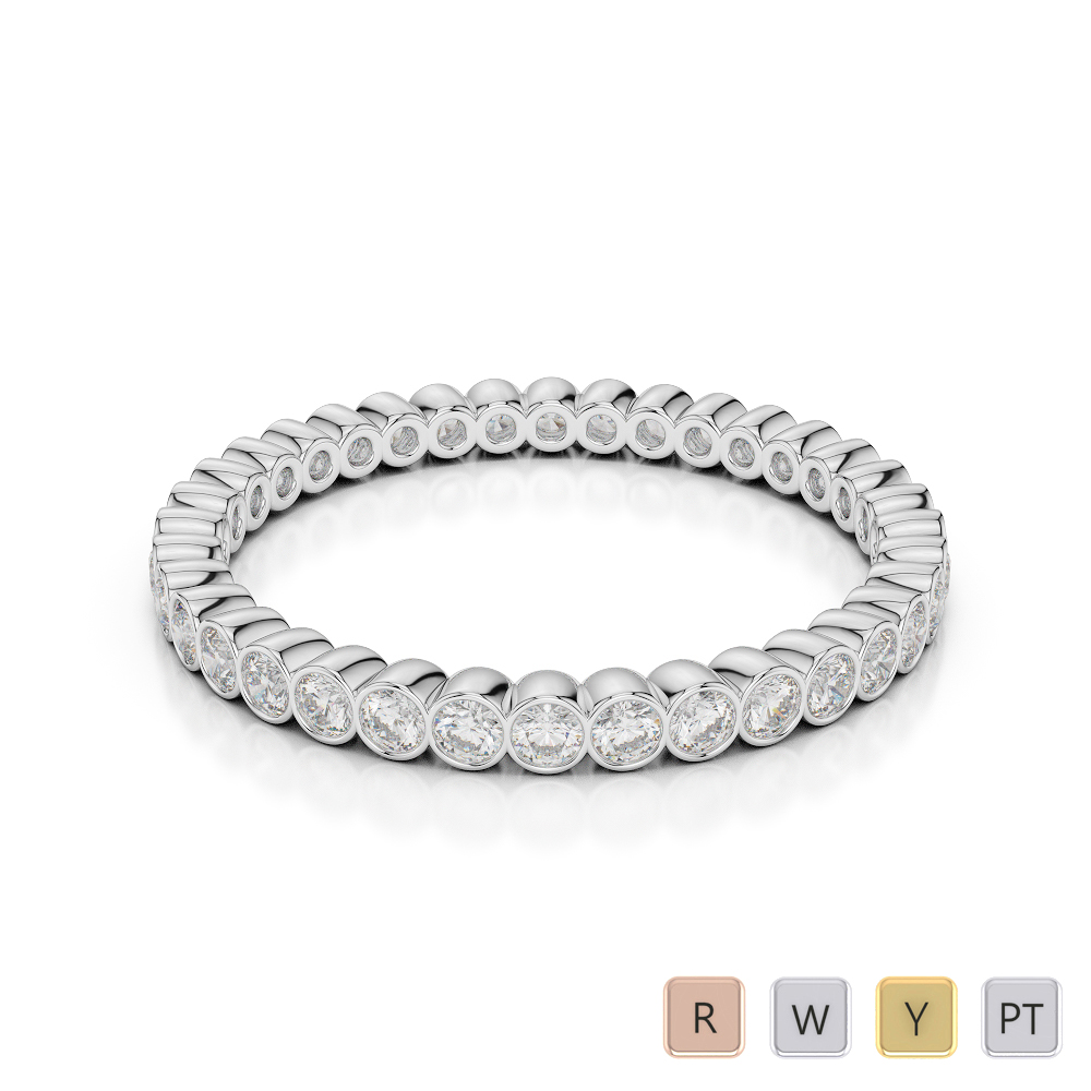 2 MM Gold / Platinum Diamond Full Eternity Ring AGDR-1098