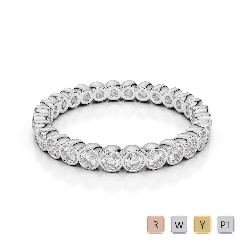 Gold / Platinum Diamond Full Eternity Ring AGDR-1099