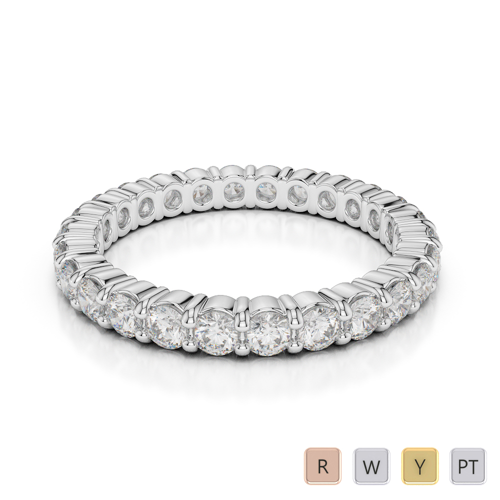 Gold / Platinum Diamond Full Eternity Ring AGDR-1111