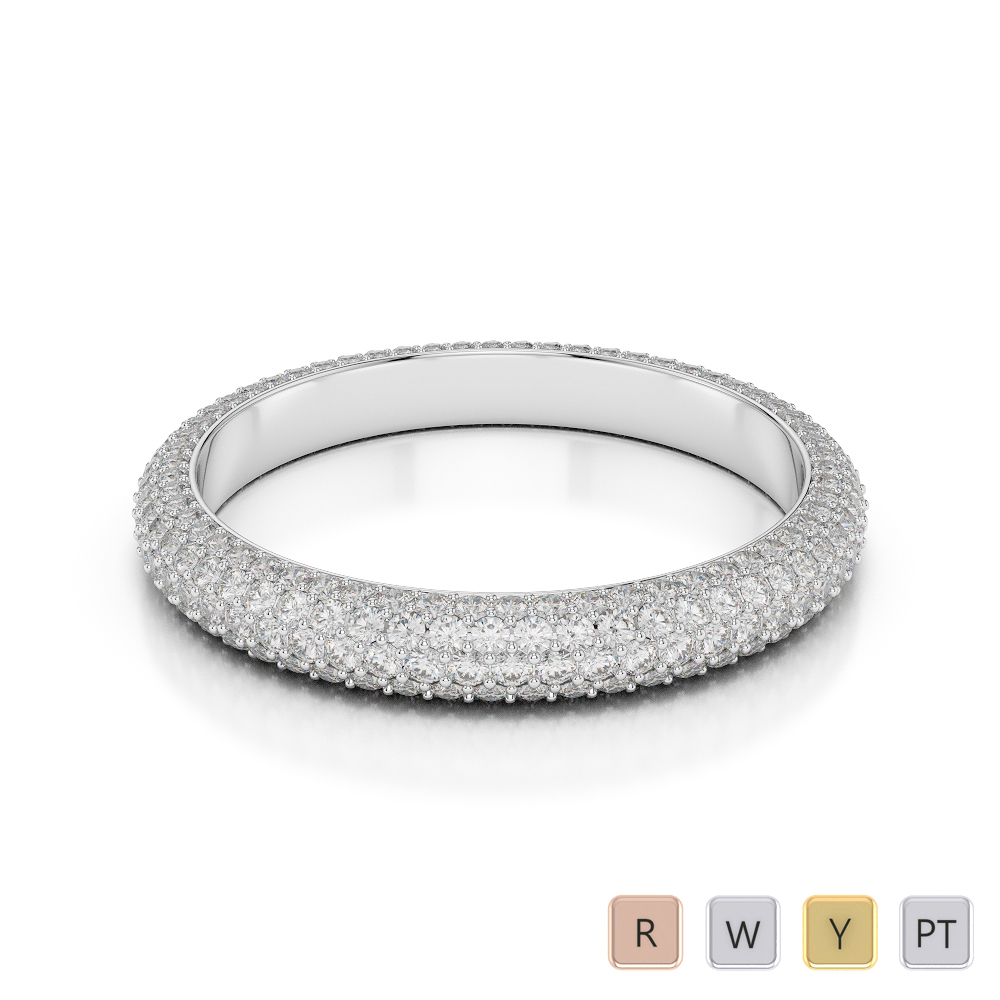 Gold / Platinum Diamond Full Eternity Ring AGDR-1115