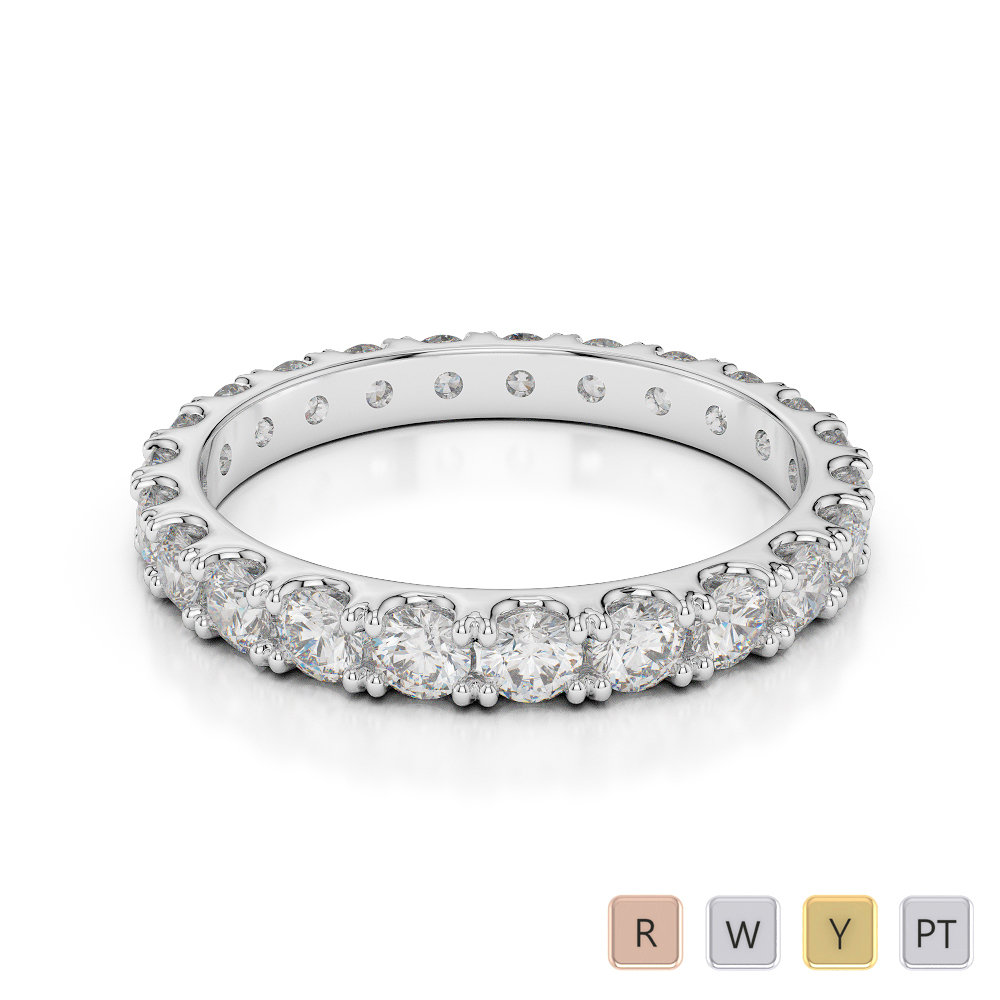 Gold / Platinum Diamond Full Eternity Ring AGDR-1121