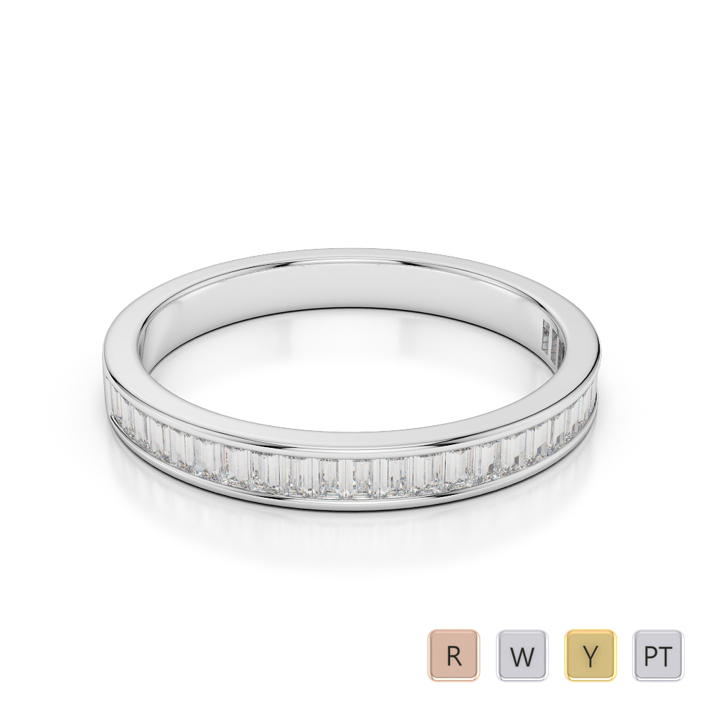 Gold / Platinum Diamond Half Eternity Ring AGDR-1139
