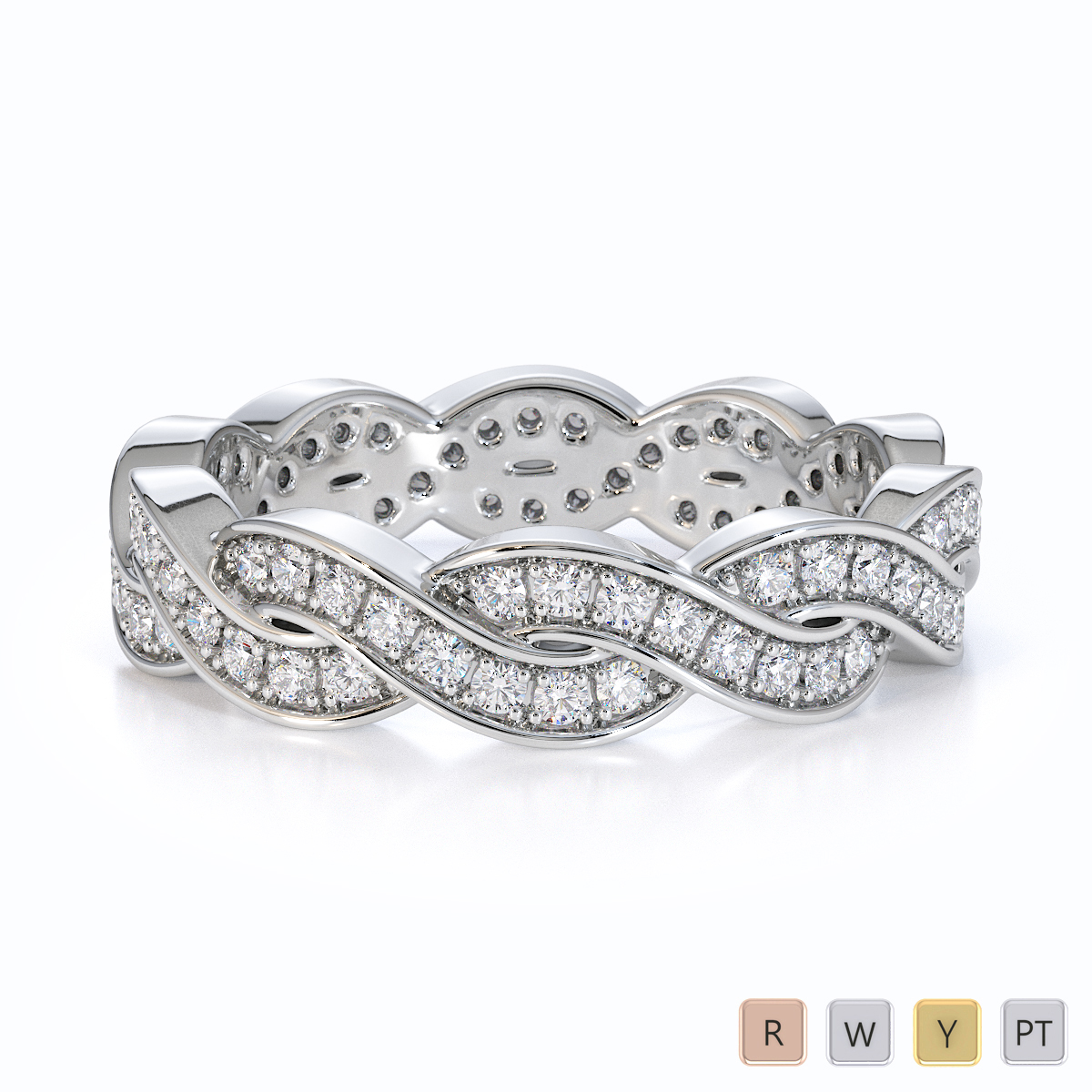 Gold / Platinum Diamond Full Eternity Ring RZ1520