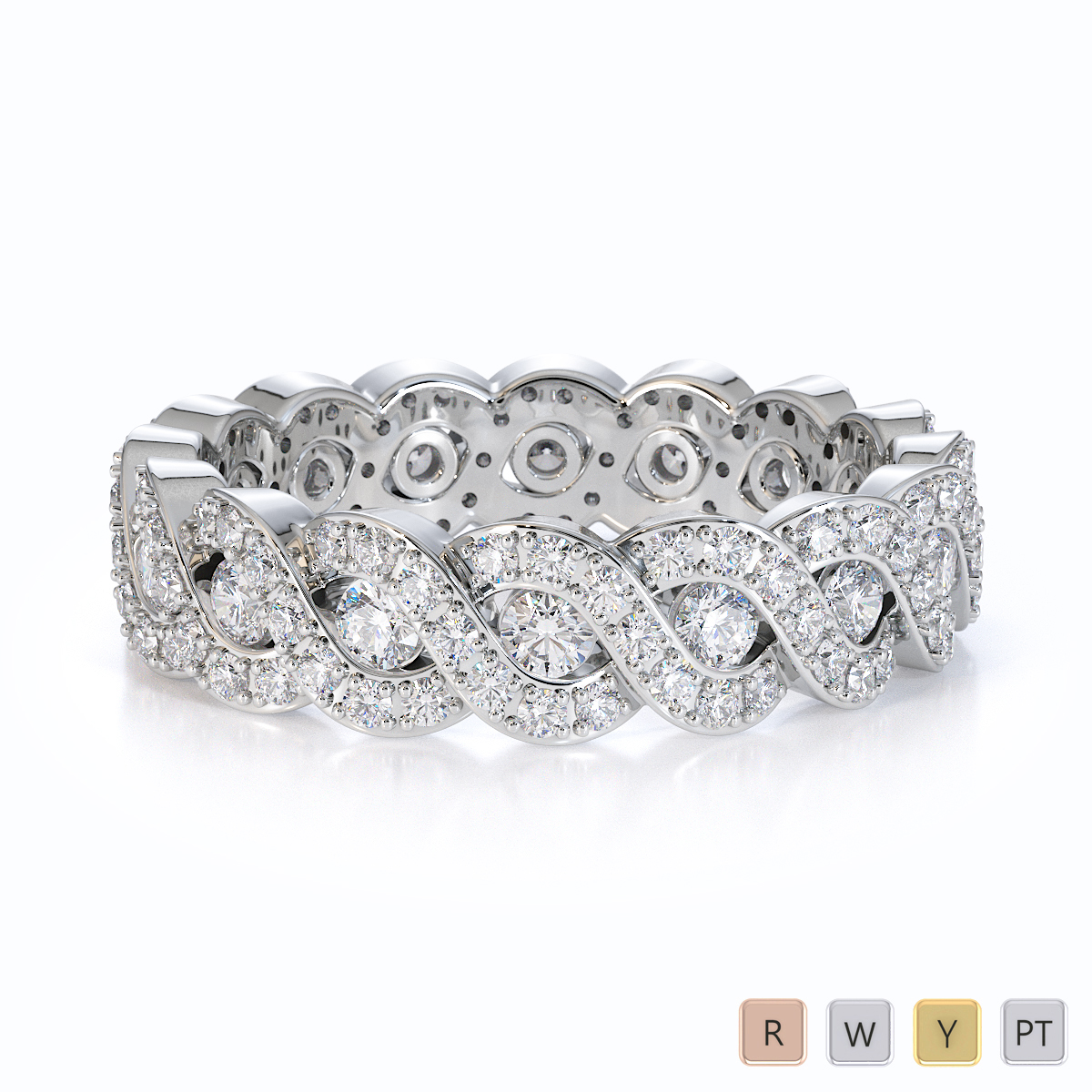 Gold / Platinum Diamond Full Eternity Ring RZ1532