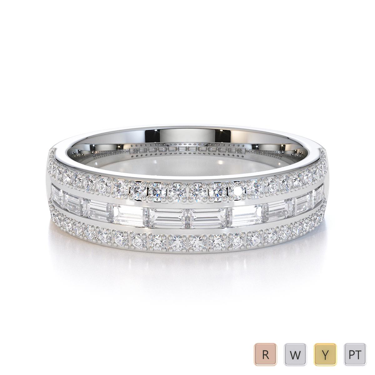 Gold / Platinum Diamond Half Eternity Ring RZ1509