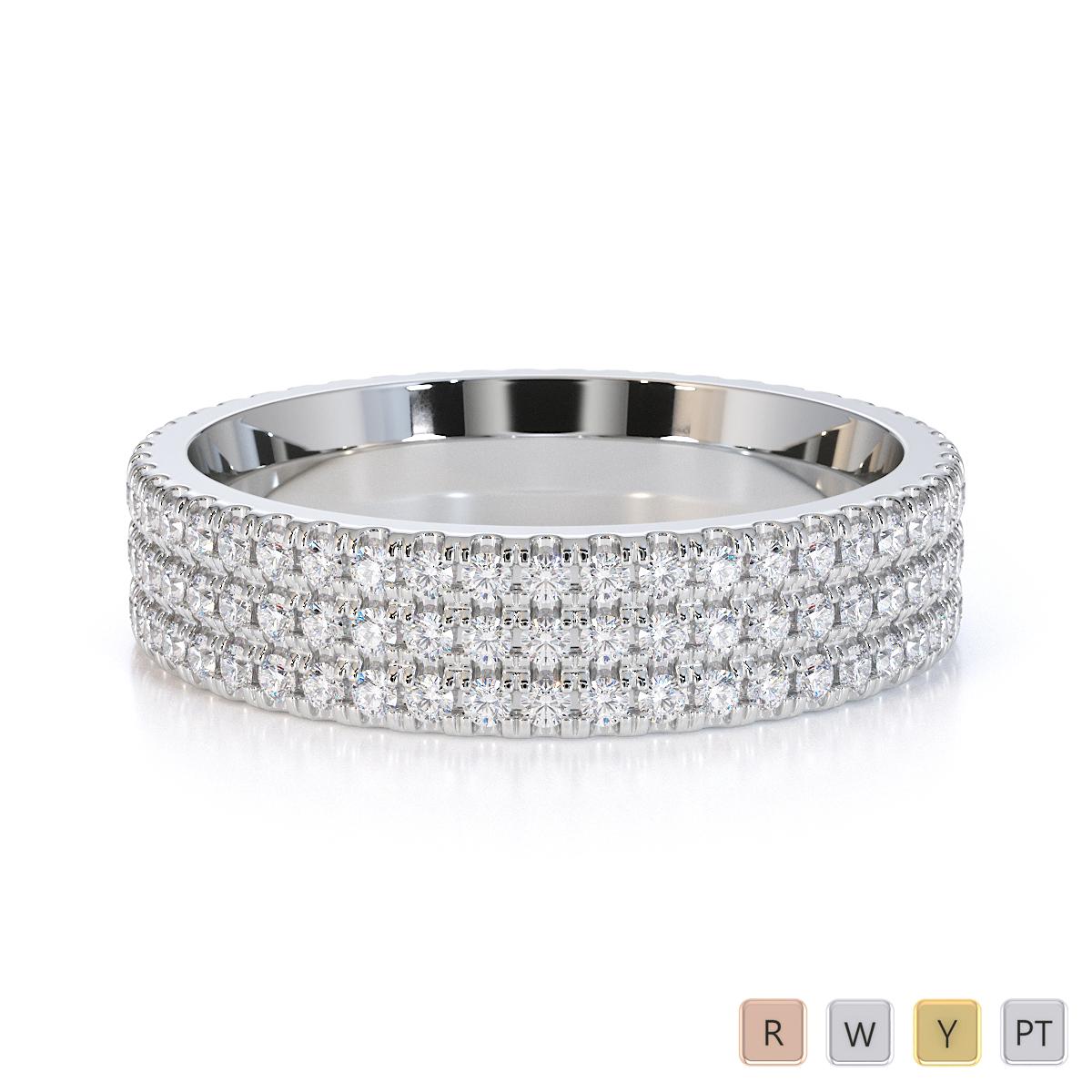 Gold / Platinum Diamond Full Eternity Ring RZ1518