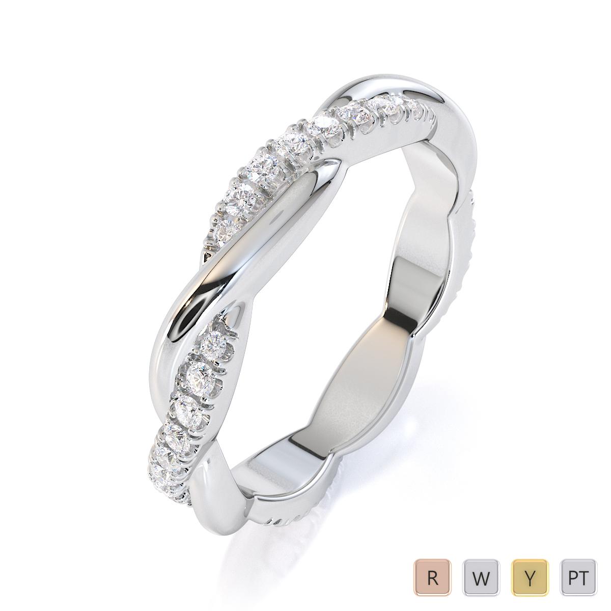 Gold / Platinum Diamond Full Eternity Ring RZ1522