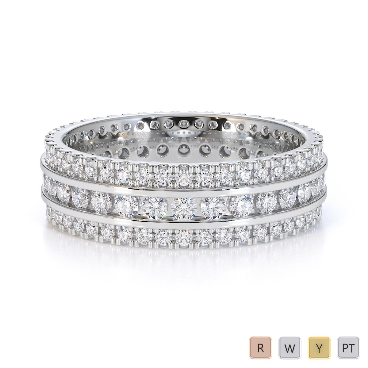 Gold / Platinum Diamond Full Eternity Ring RZ1526