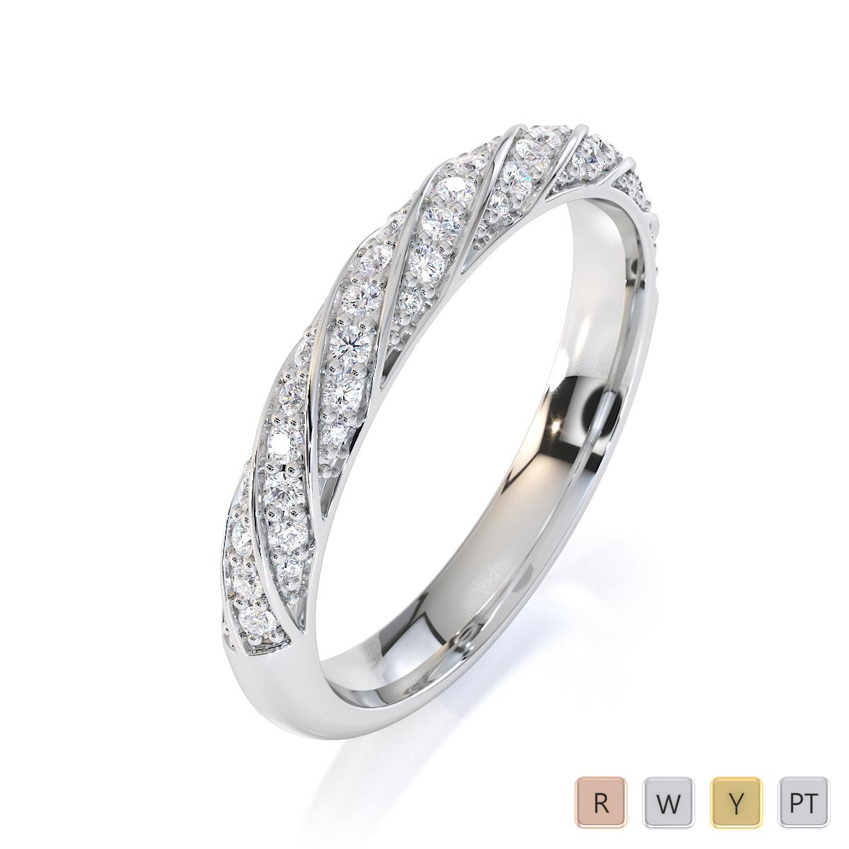 Gold / Platinum Diamond Half Eternity Ring RZ1529