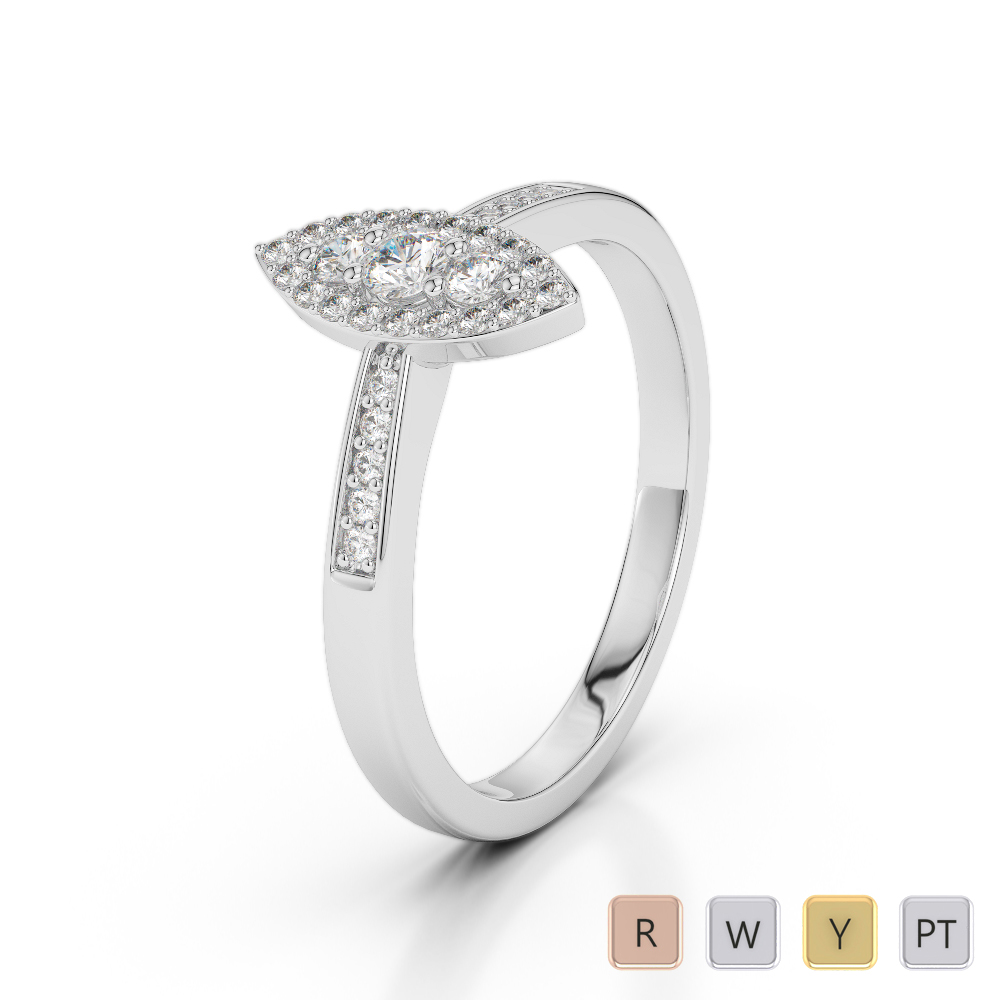 Gold / Platinum Diamond & Gemstone Engagement Ring AGDR-1161