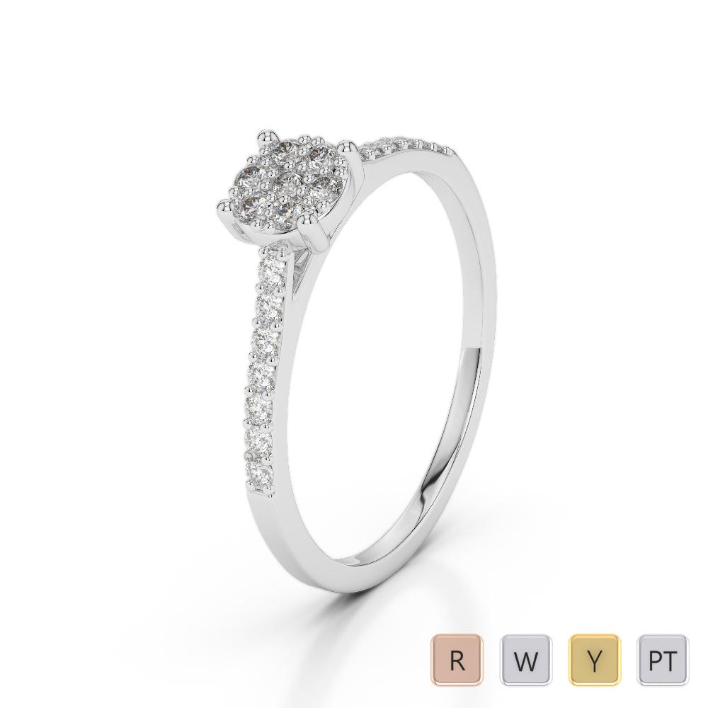 Gold / Platinum Diamond & Gemstone Engagement Ring AGDR-1164