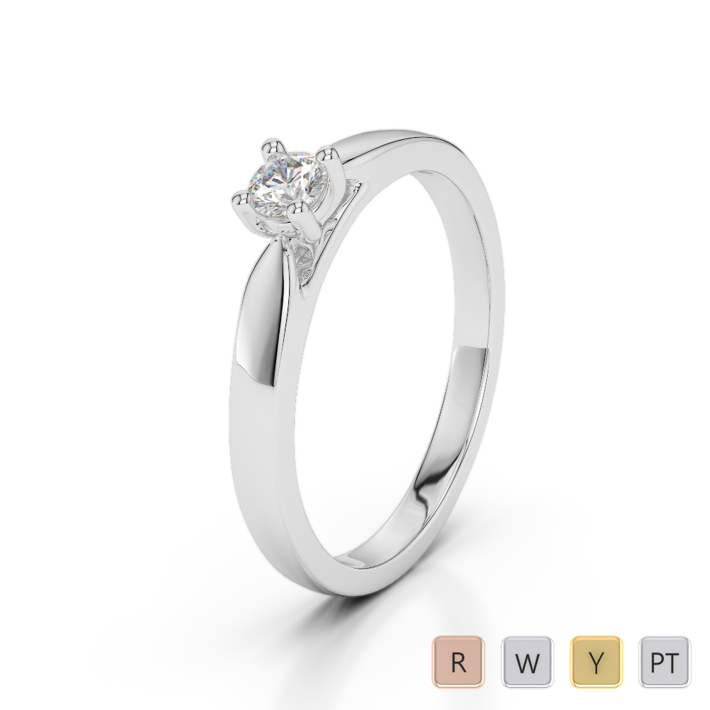Gold / Platinum Diamond & Gemstone Engagement Ring AGDR-1166