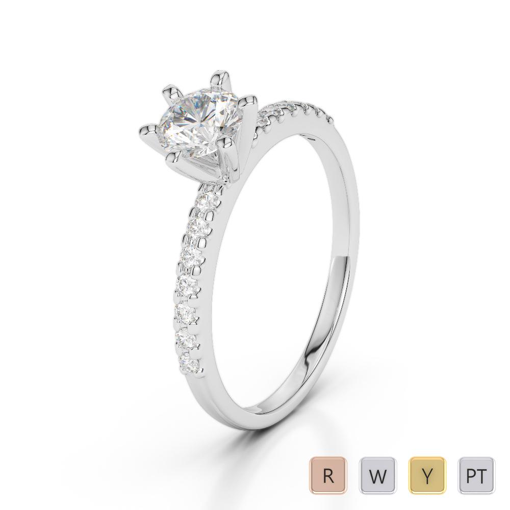 Gold / Platinum Diamond & Gemstone Engagement Ring AGDR-1172