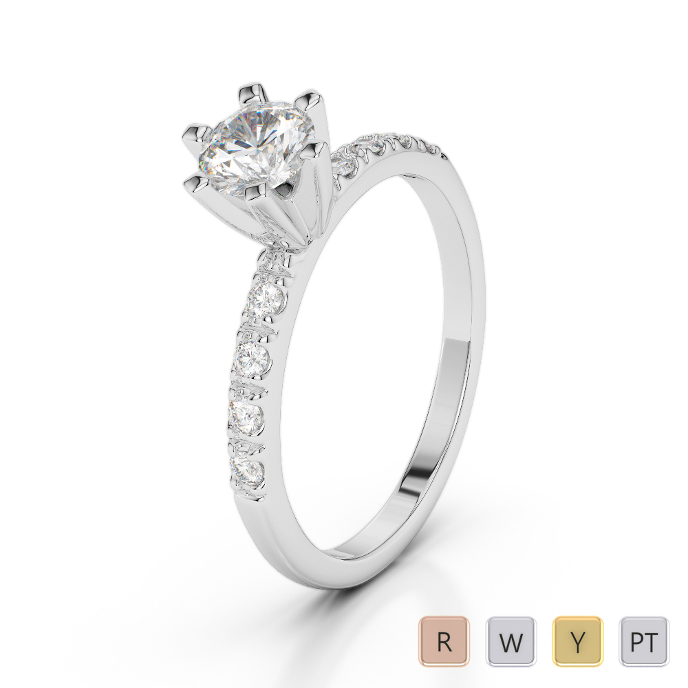 Gold / Platinum Diamond & Gemstone Engagement Ring AGDR-1176