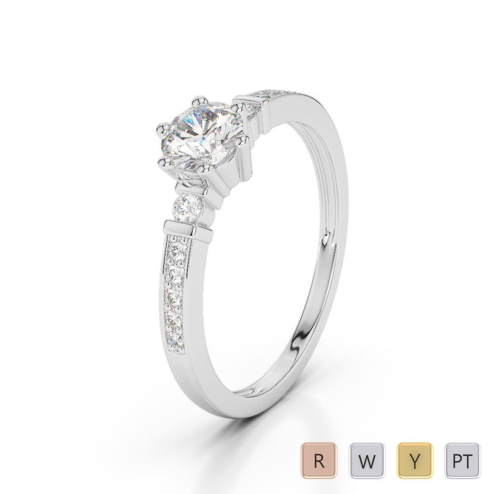 Gold / Platinum Diamond & Gemstone Engagement Ring AGDR-1177