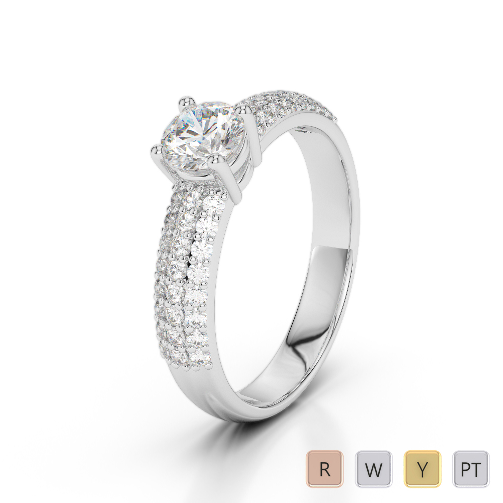 Gold / Platinum Diamond & Gemstone Engagement Ring AGDR-1179
