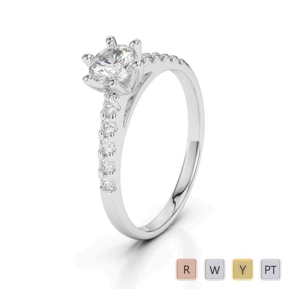 Gold / Platinum Diamond & Gemstone Engagement Ring AGDR-1180
