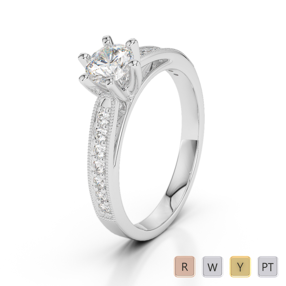 Gold / Platinum Diamond & Gemstone Engagement Ring AGDR-1181
