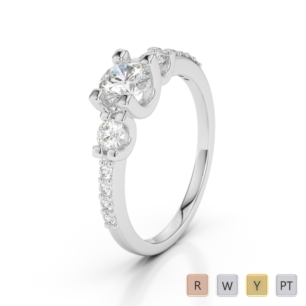 Gold / Platinum Diamond & Gemstone Engagement Ring AGDR-1182