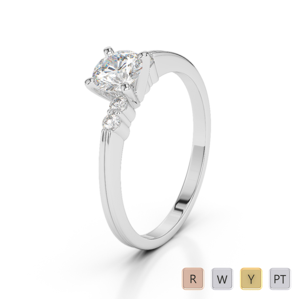 Gold / Platinum Diamond & Gemstone Engagement Ring AGDR-1185
