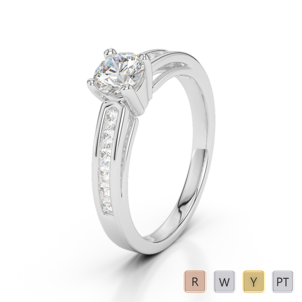 Gold / Platinum Diamond & Gemstone Engagement Ring AGDR-1186