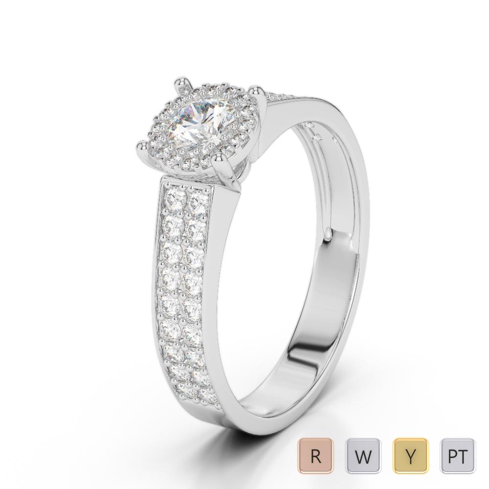 Gold / Platinum Diamond Engagement Ring AGDR-1192