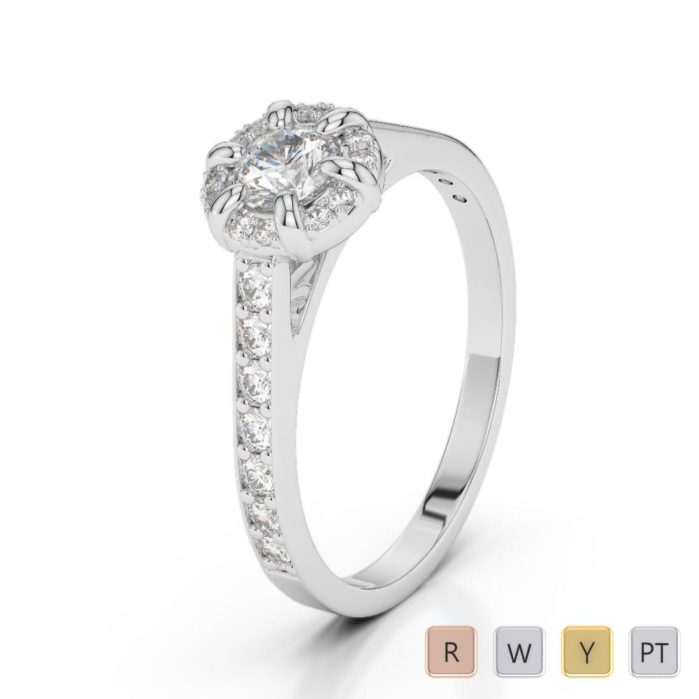Gold / Platinum Diamond Engagement Ring AGDR-1196