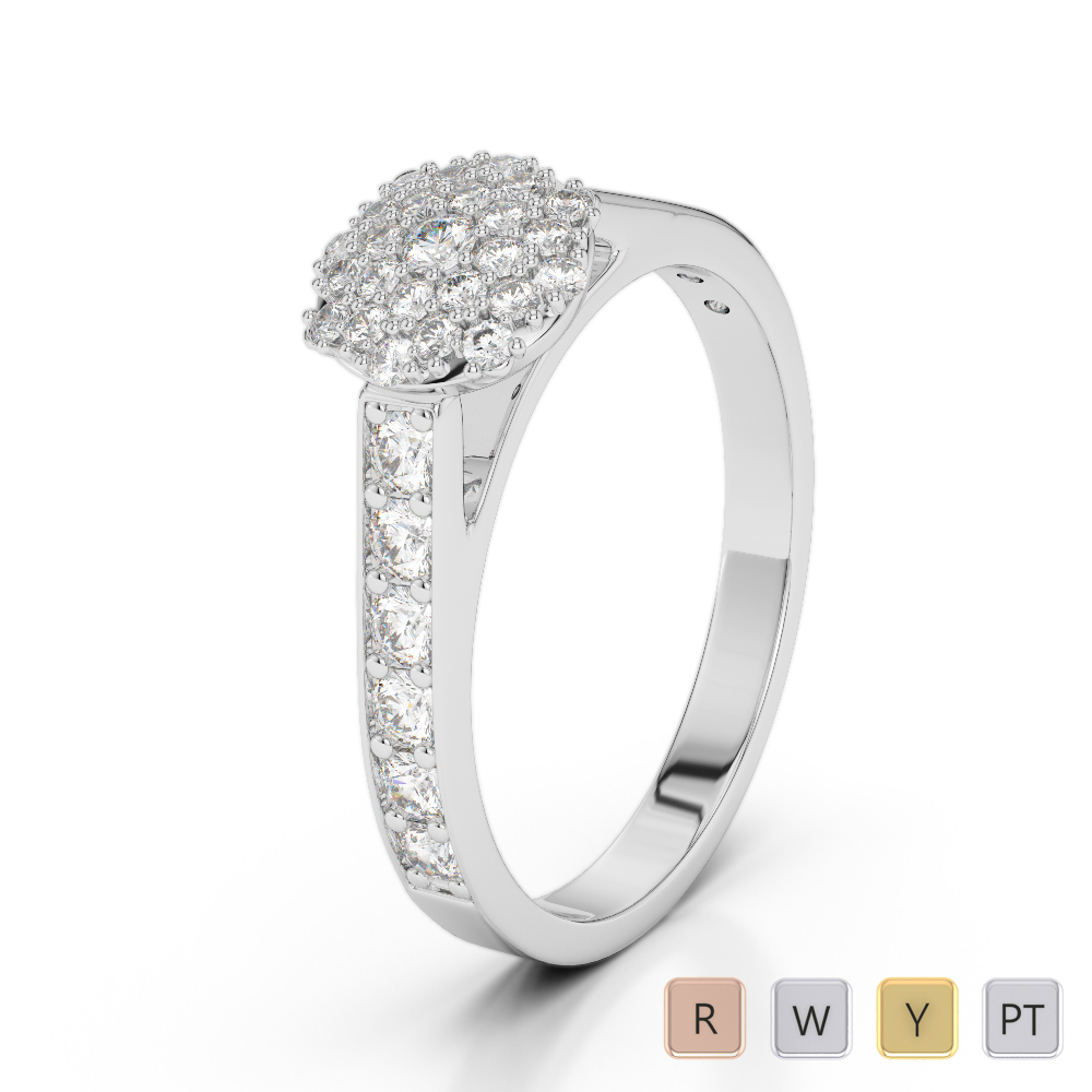 Gold / Platinum Diamond Engagement Ring AGDR-1198
